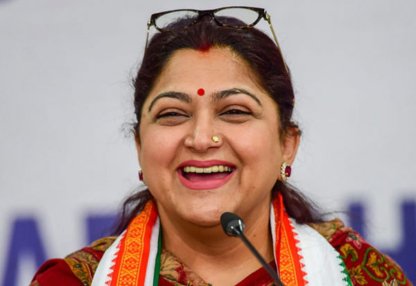 BJP, Congress, kushboo