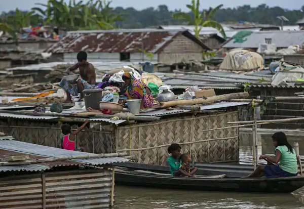 assam, flood, rain, assam flood, death, toll, அசாம், வெள்ளம், கனமழை, 54 லட்சம் பேர்,பாதிப்பு, 76 பேர் பலி