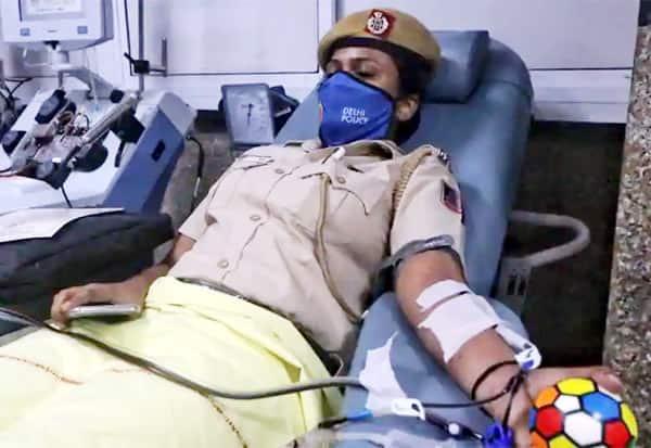 plasma warriors, Delhi Police, Harsh Vardhan, health minister