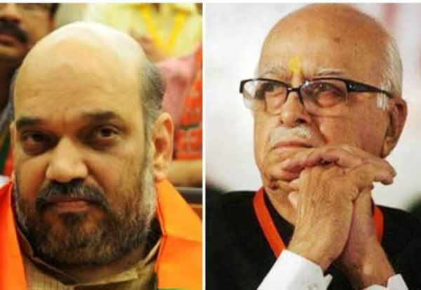 Amit Shah Meets BJP Veteran  அத்வானி, அமித்ஷா திடீர் சந்திப்பு LK Advani Ahead Of Babri Case Hearing