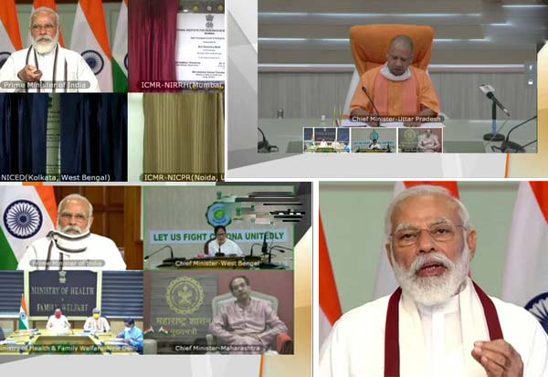 PM Modi launches 3, high-end COVID-19 testing ,labs, says India's situation much better, than many countries