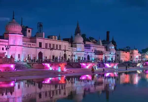 Ayodhya, decked, Ram Temple, Bhoomi Pujan,அயோத்தி, ராமர் கோவில், பூமிபூஜை
