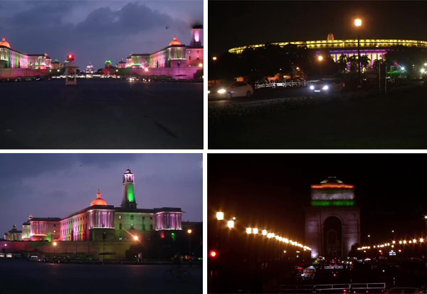 Delhi: Parliament House, North Block, South Block and India Gate illuminated  independence day