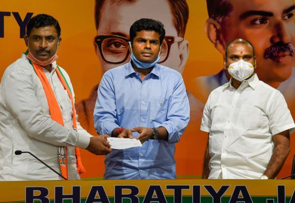Annamalai, joins, BJP, Former IPS officer, Annamalai Kuppusamy