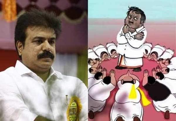 DMDK, Vijayakanth, Cartoon, தேமுதிக, விஜயகாந்த், கார்ட்டூன், சுதிஷ், நீக்கம்