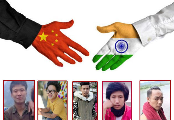 China, handover, five Indians