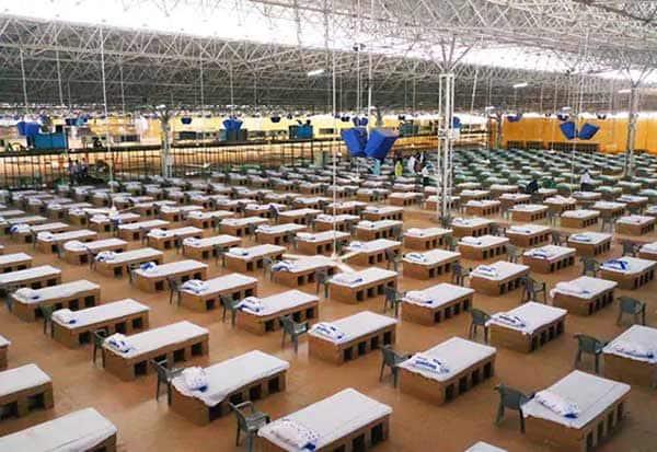 delhi, sadha patel covid care center, 10,000 beds, world biggest, 2,454 recovered, டில்லி, சர்தார் படேல் கோவிட் சிகிச்சை மையம், 10,000 படுக்கைகள், 2,454 பேர், குணம்