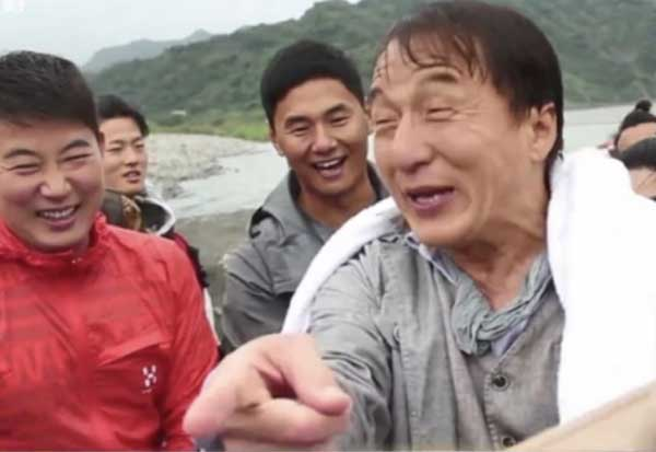 Jackie Chan survives yet another major life threatening accident while filming his new movie