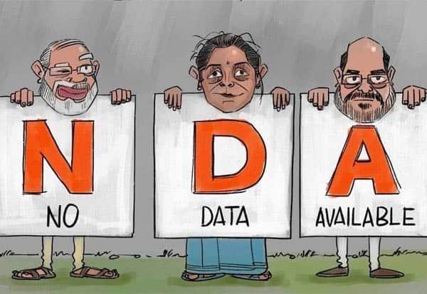 NDA, NoDataAvailable, ShashiTharoor, Data, என்டிஏ, தரவுகள், இல்லை, சசிதரூர், விமர்சனம், மத்திய அரசு