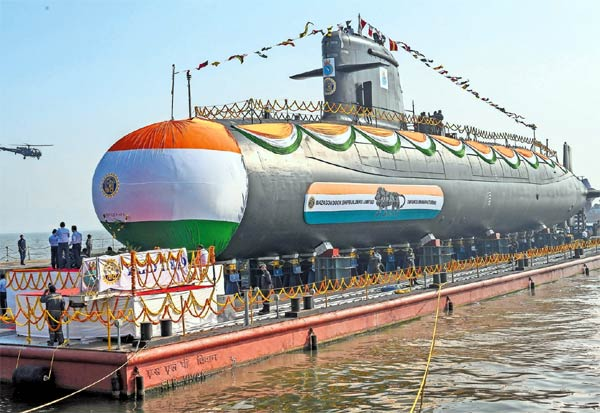 Indian Navy, Submarine, INS Vagir, Launched