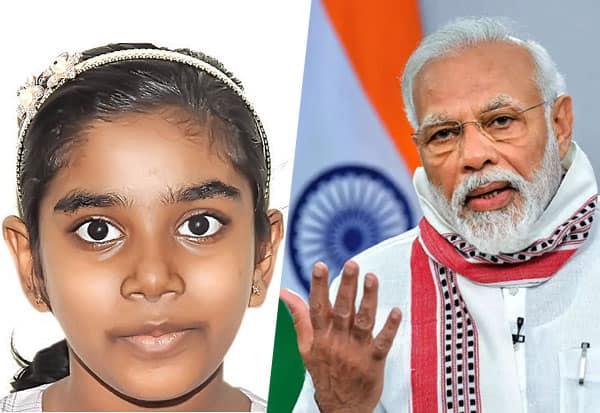 தமிழக மாணவி, பிரதமர் மோடி, பாராட்டு, Modi,Narendra Modi