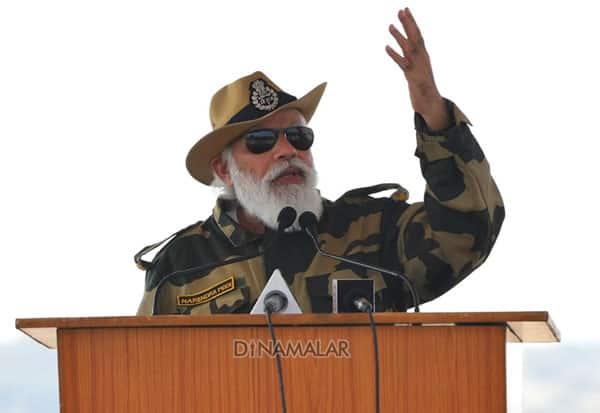 Prime Minister of India, PmModi, Narendramodi, soldiers, army, deepavali, jaisalmer,