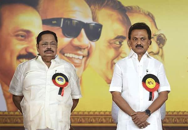 DMK,MK Stalin, Durai Murugan, திமுக, ஸ்டாலின், துரை முருகன்