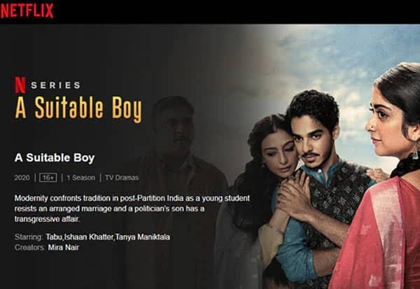 Netflix, A_SuitableBoy, KissingScene, FIR