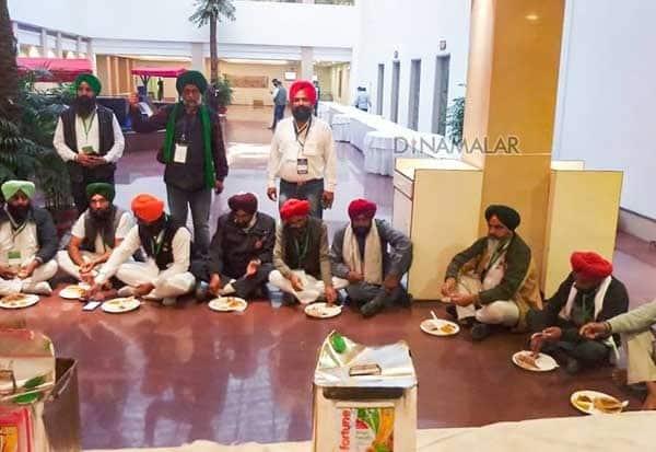 Farmers, Bring, OwnFood, Tea, Water, GovernmentMeeting, மத்திய அரசு, உணவு, விவசாயிகள்