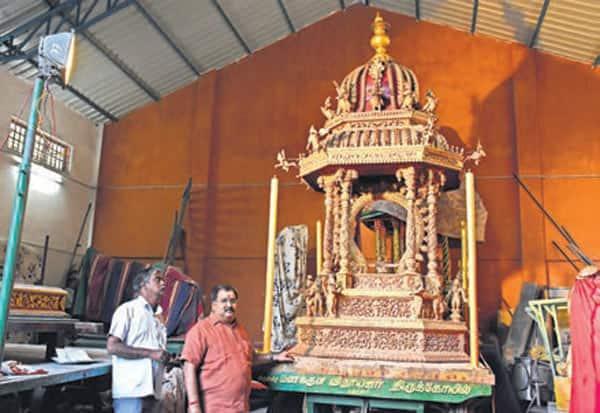 மணக்குள விநாயகர், கோவில், தங்க தேர், பாகங்கள், மாயம்