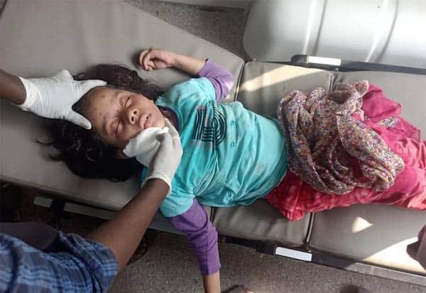 மயக்க நிலையில் 8 வயது மதிக்கத்தக்க பெண் : போலீசார்  விசாரணை