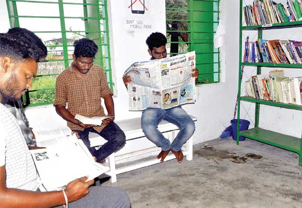வண்ணாங்குண்டு இளைஞர்கள் உருவாக்கிய கிராம நுாலகம்