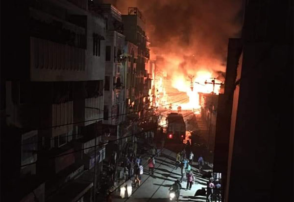 Madurai, fire, electronic shops