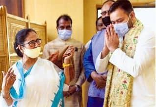 மம்தாவுக்கு தேஜஸ்வி ஆதரவு  சூடு பிடிக்கிறது தேர்தல் ...