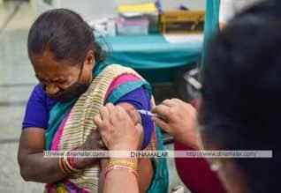 இந்தியாவில் 1.56 கோடி பேருக்கு தடுப்பூசி