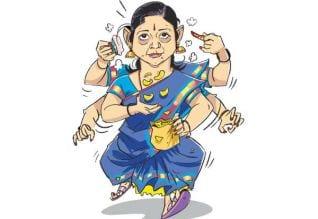 ப.இ.ம.ப.செ.கி., மல்லிகாவுக்கு கத்தி வீசும் நட்பு