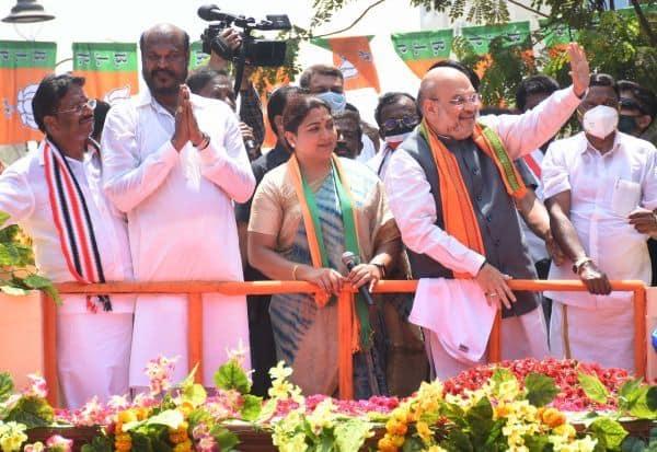 'தி.மு.க., - காங்., குடும்ப அரசியல் ஒழிந்தால் தான் தமிழகம் முன்னேறும்'