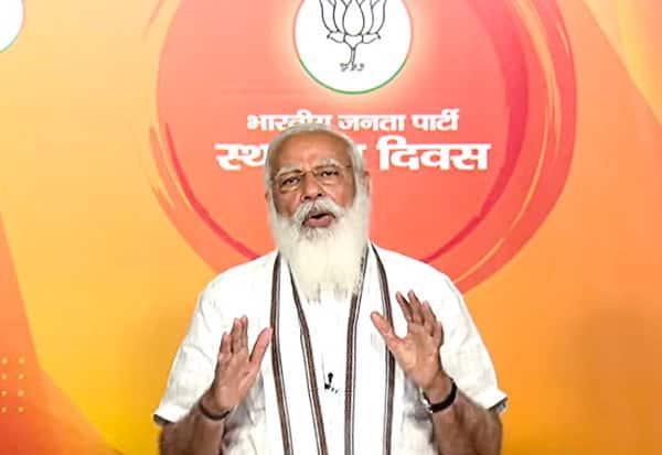 BJP, FoundationDay, EVM, Election Winning Machine, PMModi, வாக்கு இயந்திரம், பாஜக, பிரதமர், மோடி