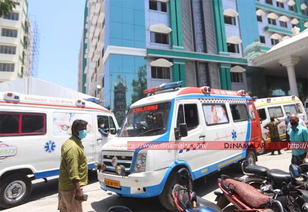 Covid Crisis, Tamilnadu, Ambulance, Hospital, கொரோனா, ஆம்புலன்ஸ், சென்னை, மருத்துவமனை