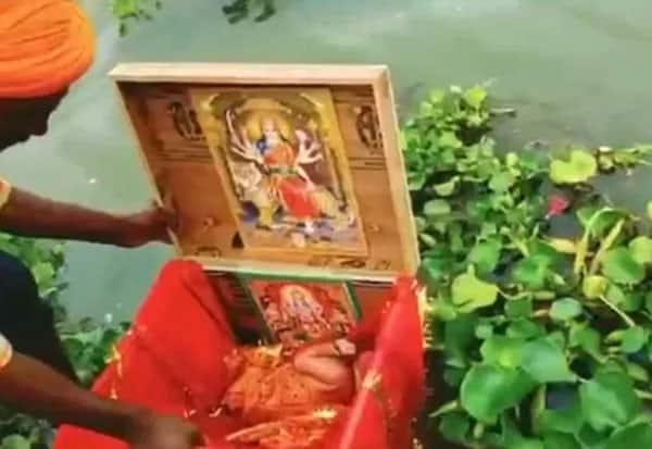 Ganga,Newborn Girl, Wooden Box
