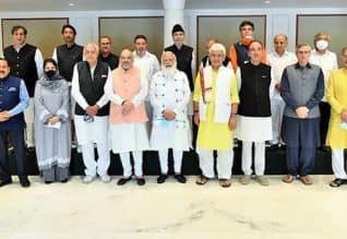காஷ்மீர் அரசியல் தலைவர்களுடன் பிரதமர் ஆலோசனை ...