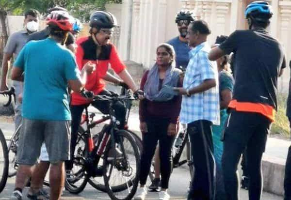 CM Stalin, cycle ride, cycling