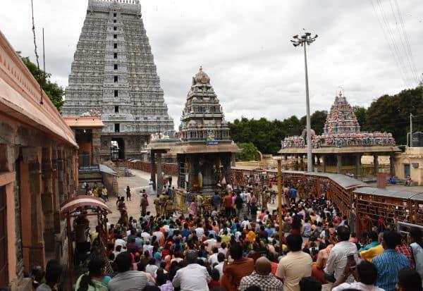 தி.மலை அருணாசலேஸ்வரர் கோவிலில் பிரதோஷ பூஜை
