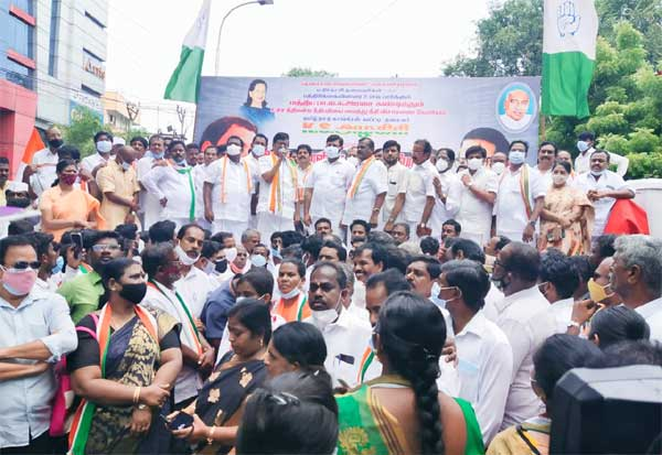 governor house, congress,காங்கிரஸ், பேரணி, கவர்னர் மாளிகை