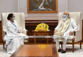 பிரதமர் மோடியுடன் மே.வங்க முதல்வர் மம்தா சந்திப்பு
