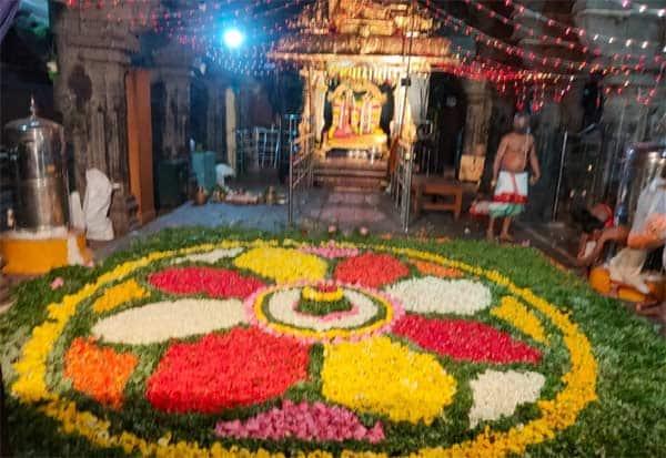 ஆண்டாள் கோயிலில் புஷ்ப யாகம்