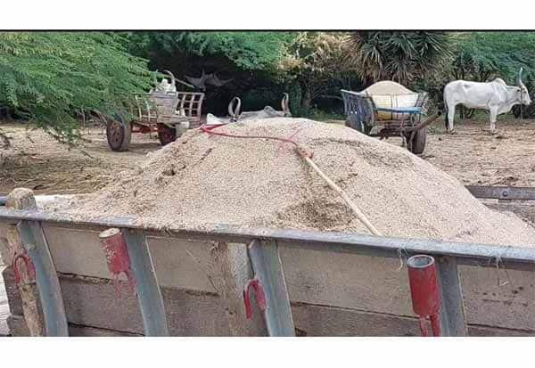 அமராவதி ஆற்றில் மணல் அள்ளிய 7 மாட்டு வண்டிகள் பறிமுதல்