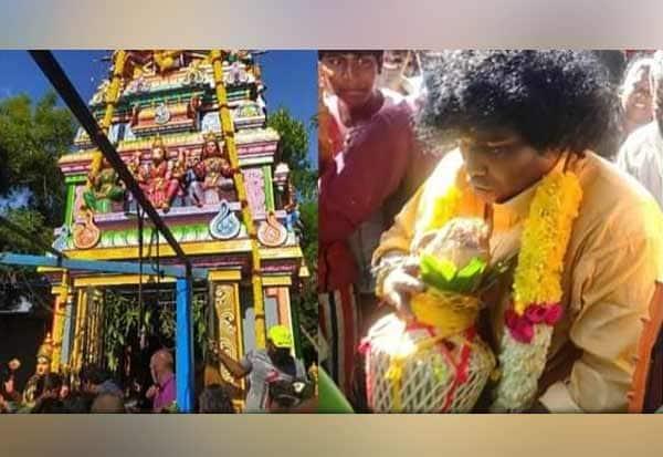 சிரிப்பு நடிகர் யோகிபாபு கட்டிய கோவிலுக்கு கும்பாபிேஷகம்