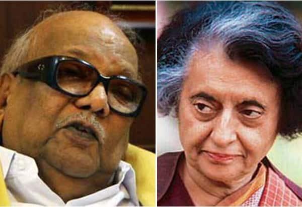 DMK, Karunanidhi, Indira Gandhi, Congress