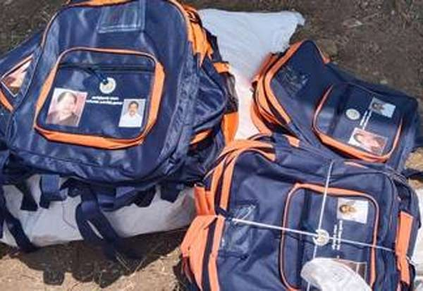 school bag, jayalalitha photo, Anbil Mahesh