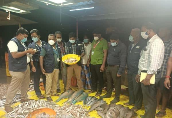 விழுப்புரத்தில் 106 கிலோ அழுகிய மீன்கள் பறிமுதல்