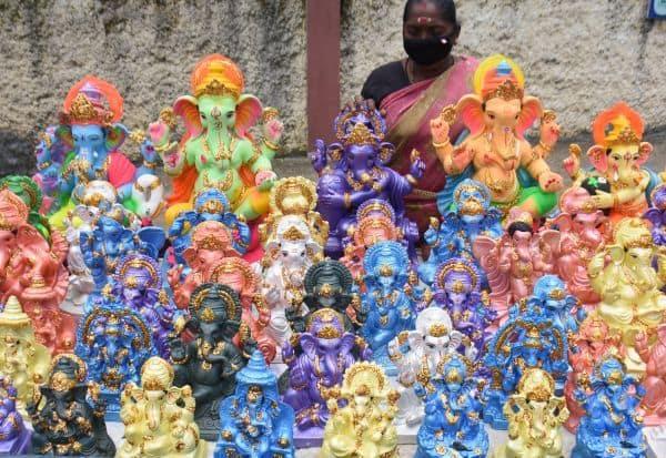 விநாயகர் சதுர்த்தி விழாவுக்கு சிலைகள் விற்பனை துவக்கம்