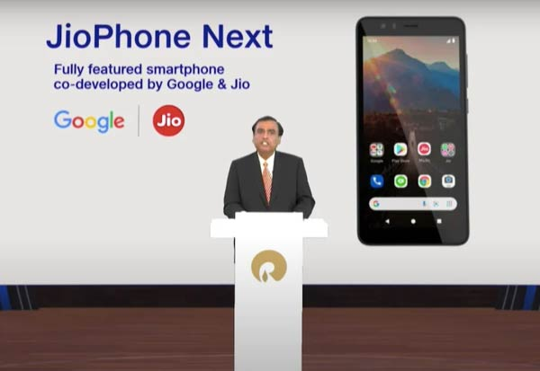 JioPhone, Reliance Jio, Google