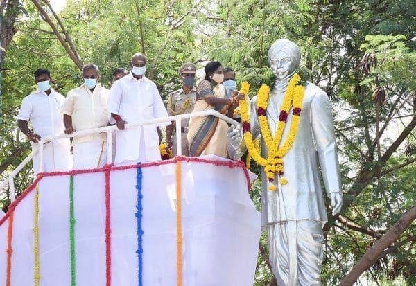 பாரதியின் 100வது நினைவு தினம் அரசு சார்பில் முப்பெரும் விழா: கவர்னர்