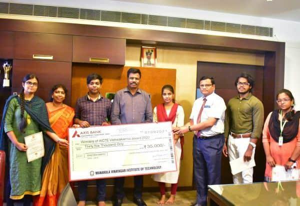 தேசிய விஸ்வகர்மா விருது போட்டி எம்.ஐ.டி., கல்லுாரி 2ம் இடம்
