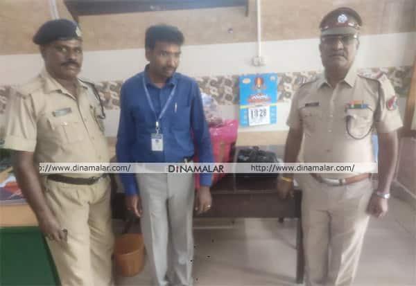 காட்பாடி ரயில் நிலையத்தில் 120 புகையிலை பாக்கெட்கள் பறிமுதல்