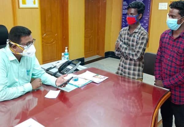 காலி மனை கேட்ட கல்லுாரி மாணவர்  வீடு கட்டி கொடுக்க கலெக்டர் உத்தரவு