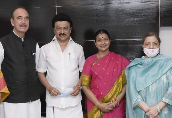 Ghulam Nabi Azad, MK Stalin, DMK, Congress Leader, TN_CM