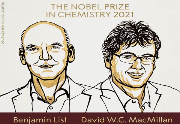Nobel Prize, NobelPrize2021, Chemistry, Awarded, Benjamin List, David WC MacMillan, நோபல் பரிசு, வேதியியல், பெஞ்சமின் லிஸ்ட், டேவிட் மேக்மில்லன்