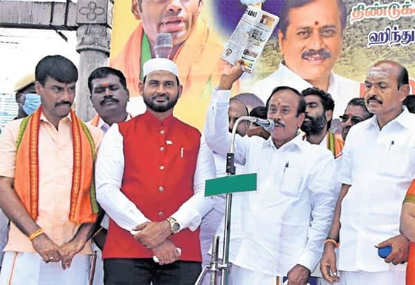 H Raja, BJP, Temple Reopen